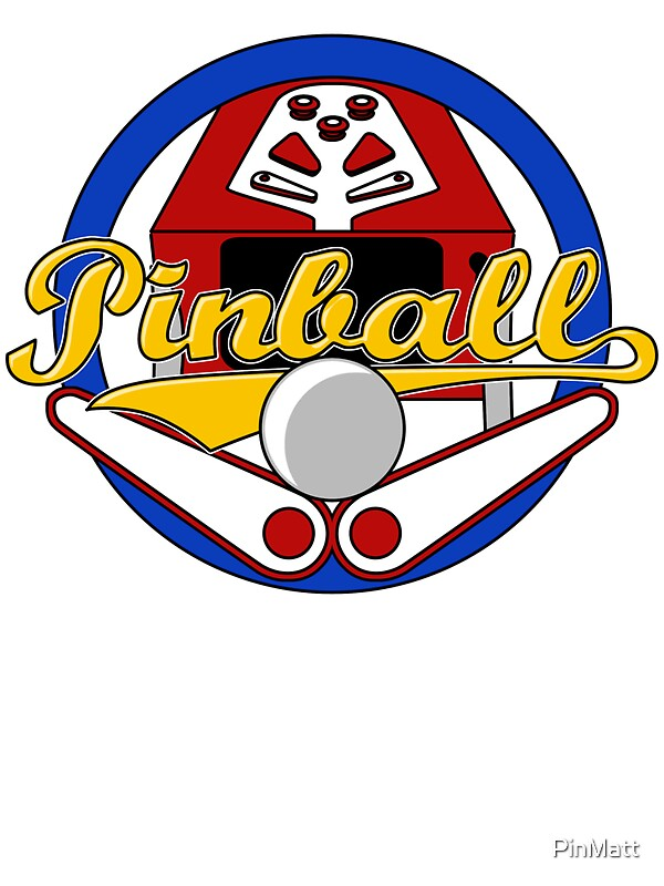 quotPinball Logoquot Stickers by PinMatt Redbubble