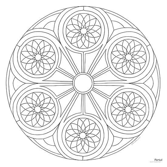 quotPortal Mandala Print PaintColor Your Own