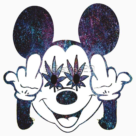 Mickey Mouse Galaxy Middle Finger