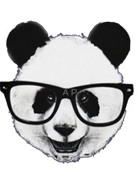 """Hipster Panda"" Stickers by Pydrex"