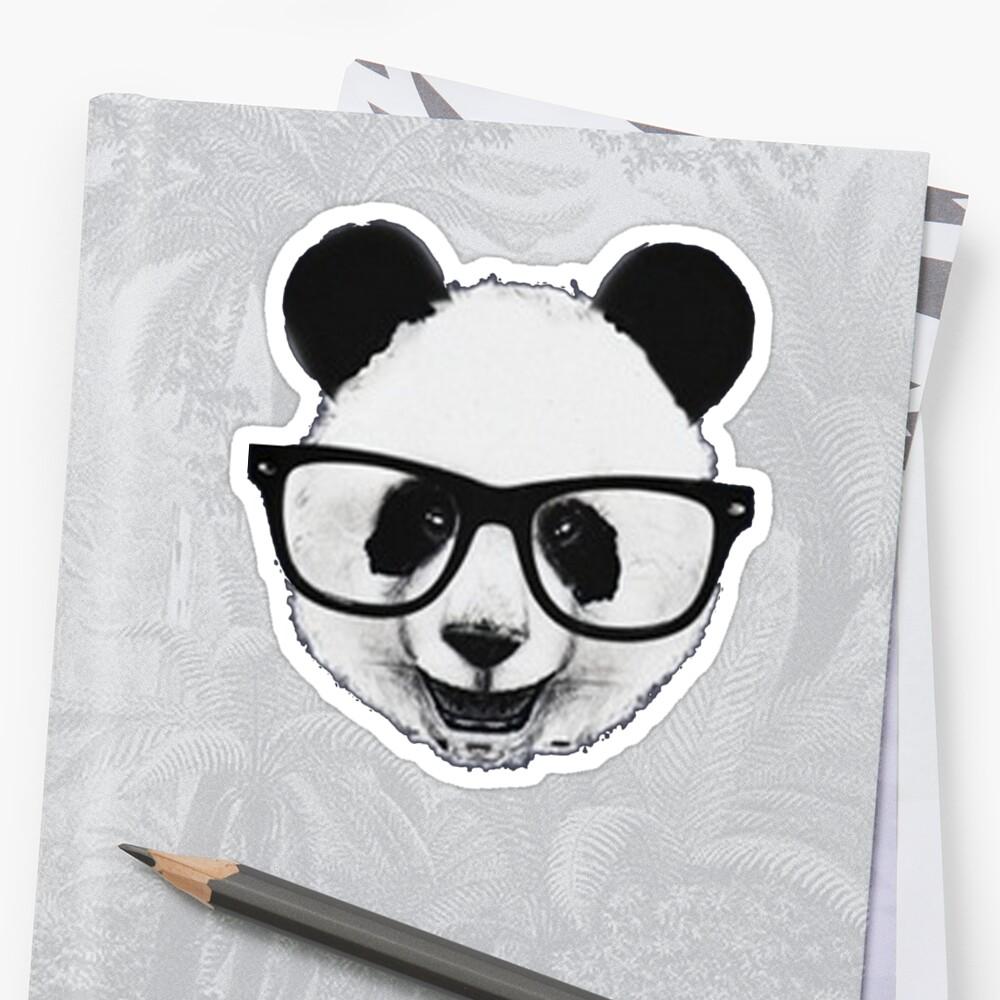 """Hipster Panda"" Stickers by Pydrex"