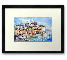 Genova Boccadasse LiguriaItaly by Luca Massone disegni  Redbubble