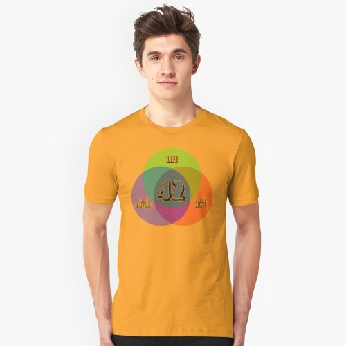 small resolution of new venn diagram life the universe everything for light shirts slim fit t shirt