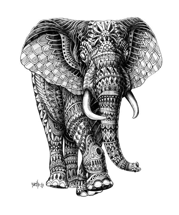 """ornate Elephant .2"" Bioworkz Redbubble"