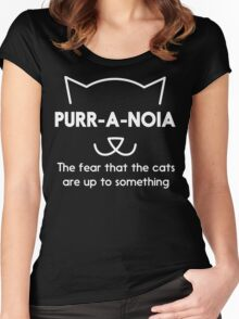Purr-a-noia Tee Shirts. Purr-a-noia t-shirt for cat lovers. The fear that the cats are up to something