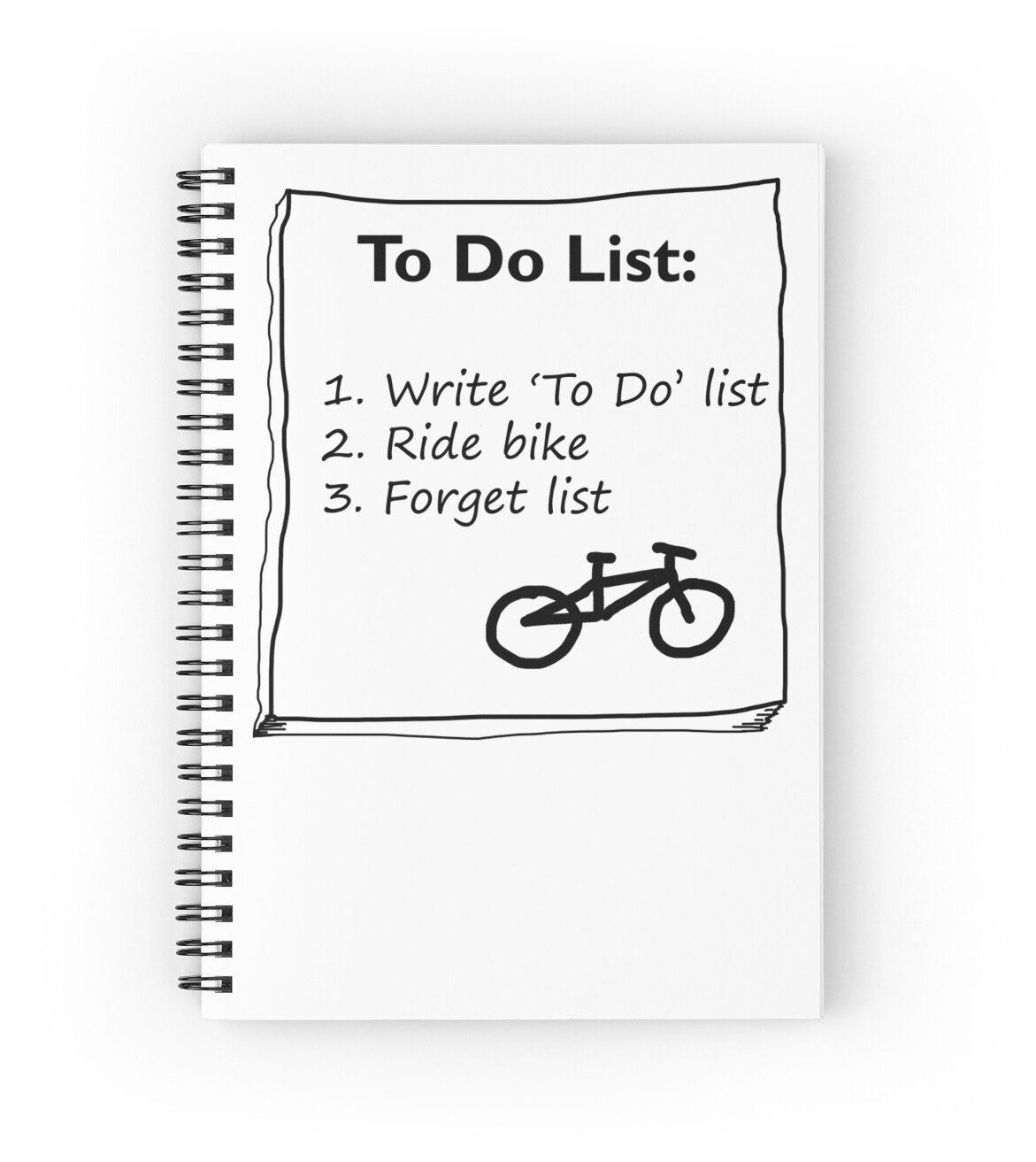 Cycling To Do List Spiral Notebooks By Phillconnell