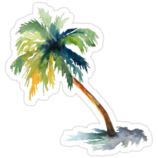 Palm Tree Stickers By Costeen Redbubble