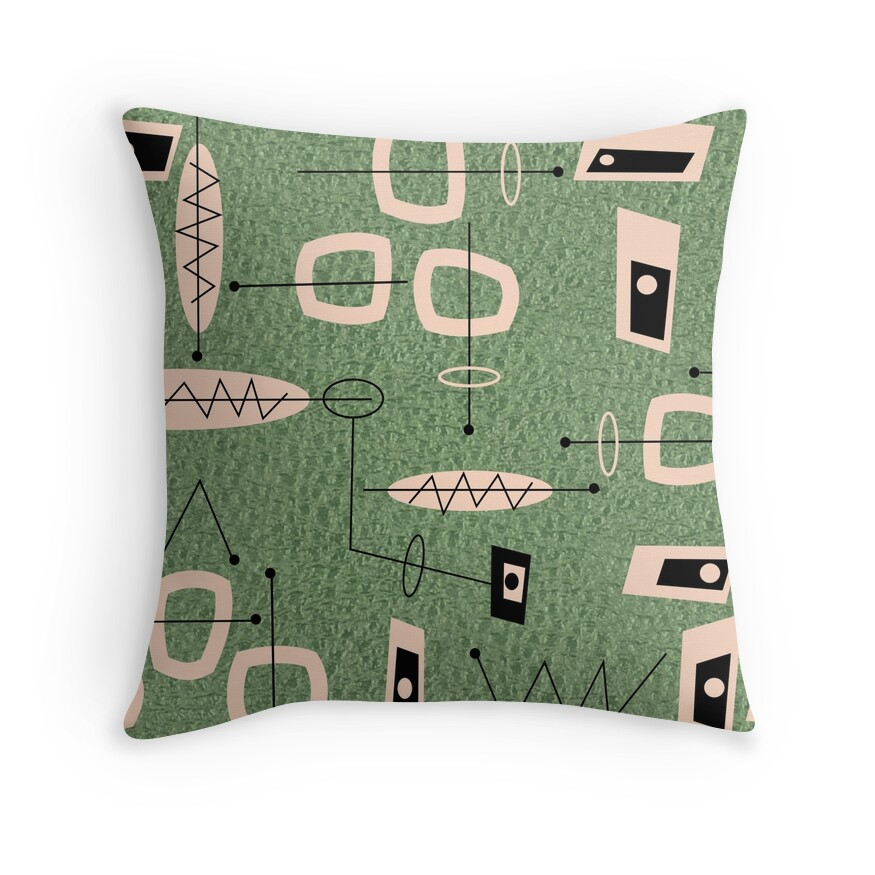 Mid Century Modern Throw Pillows  Redbubble