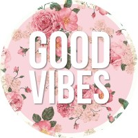 """""""GOOD VIBES floral quote sticker"""" Stickers by amandaspac ..."""