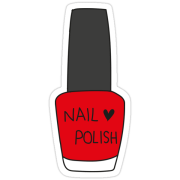 """nail polish bottle - red"" stickers"