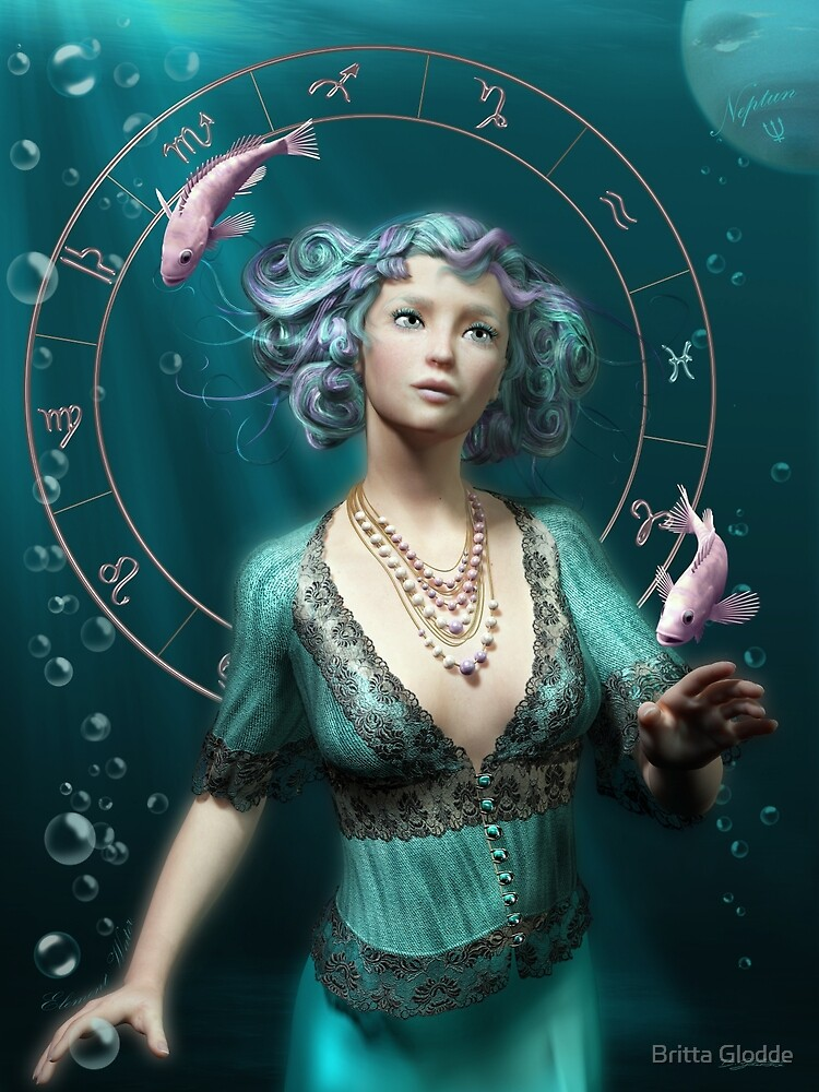 Pisces Zodiac Fantasy Circle by Britta Glodde  Redbubble