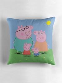 """peppa pig"" Throw Pillows by Imeggj | Redbubble"