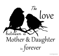 """""""Mother Daughter Love Forever Quote Cute Bird Silhouette ..."""