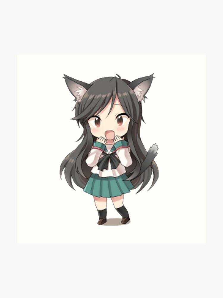 anime cat girl chibi