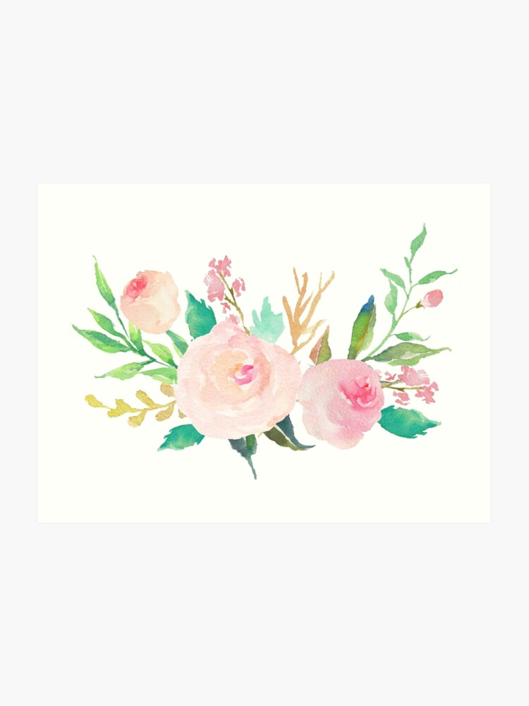pastel watercolor flower bouquet