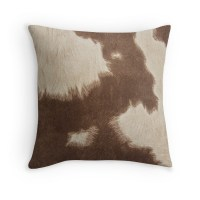 """""""Brown Cowhide"""" Throw Pillows by Gypsykiss 
