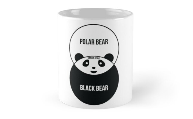 panda bear diagram 2003 toyota corolla alternator wiring venn mugs by offensivefun redbubble