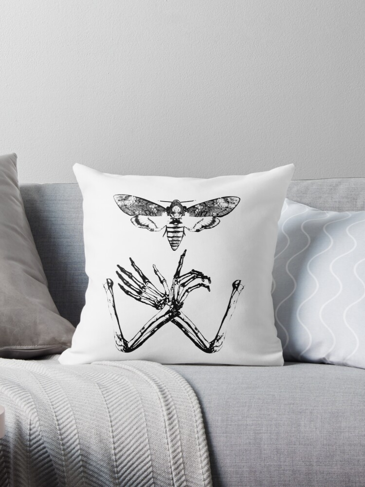 """Silence of Death"" Throw Pillows by necroticart"