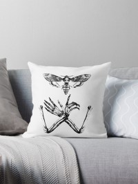 """Silence of Death"" Throw Pillows by necroticart 