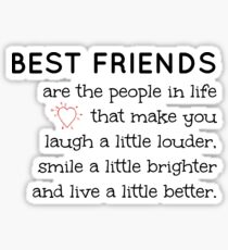 best friend quote stickers