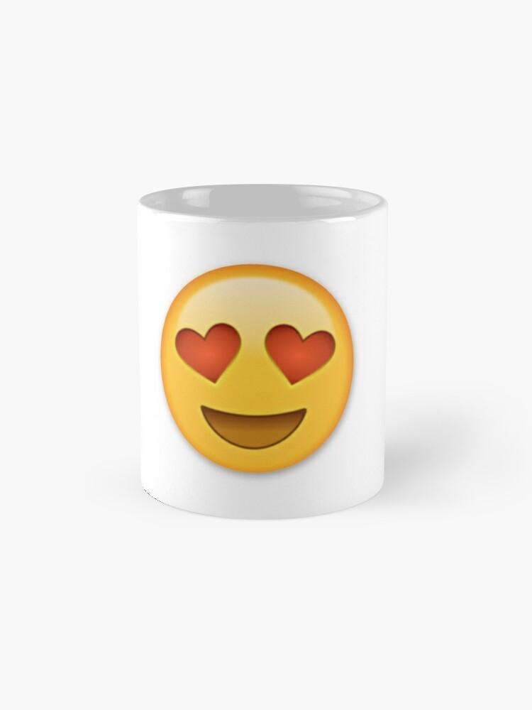 heart eye emojis mugs