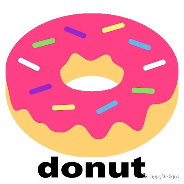 """donut Emoji - With Text"" Art Prints Scrappydesign"