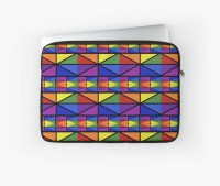 """""""Geometric Stained Glass Window Design"""" Laptop Sleeves by ..."""