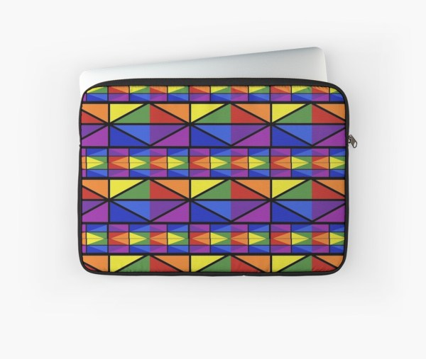 """geometric Stained Glass Window Design"" Laptop Sleeves"