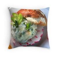 """""""Bavarian Cheese Burger Pillow"""" Throw Pillows by ..."""