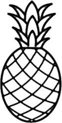 Simple Pineapple Outline