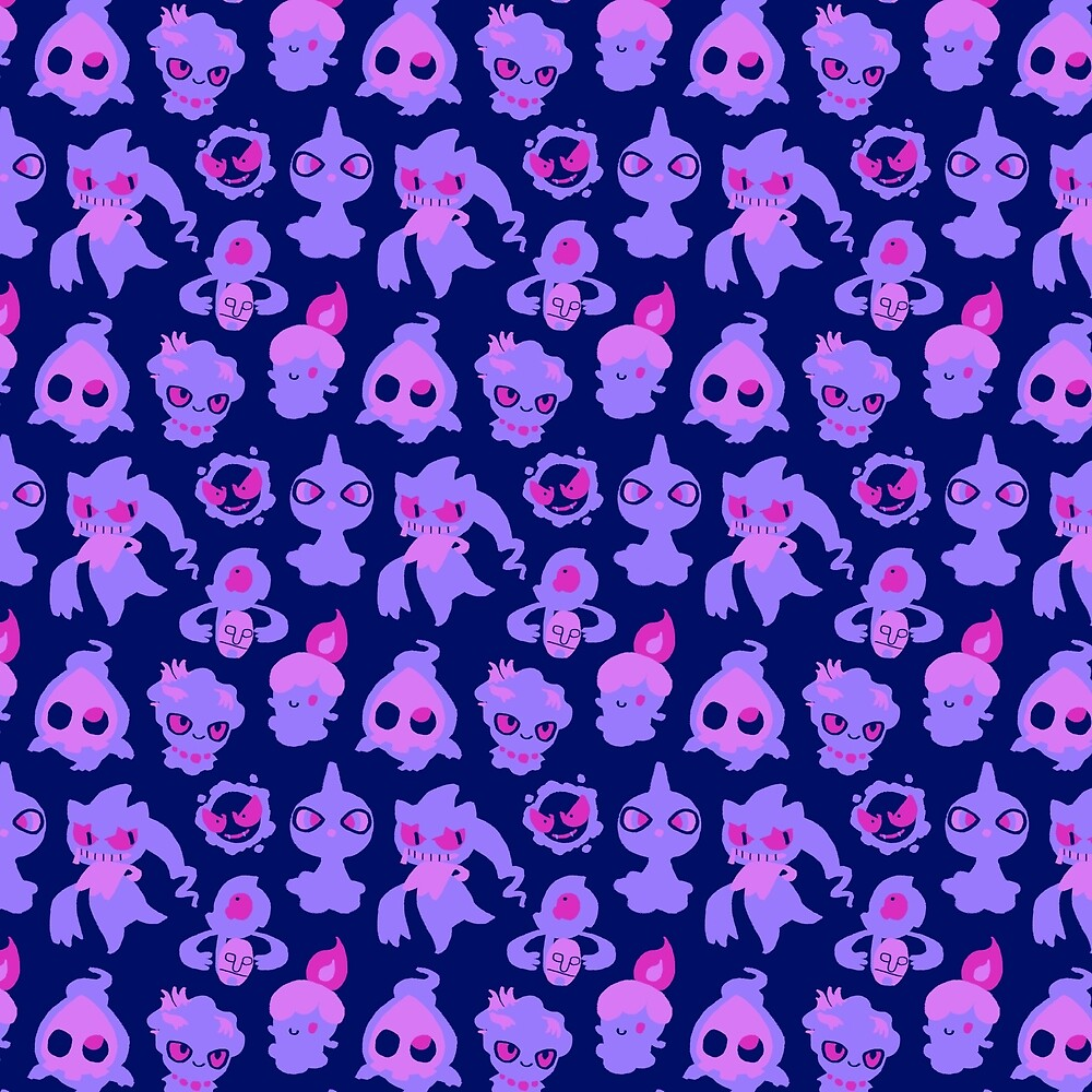 Ghost Pokemon Pattern by knightofbunnies  Redbubble