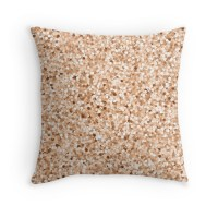 """""""Faux Printed Rose Gold Glitter"""" Throw Pillows by ..."""