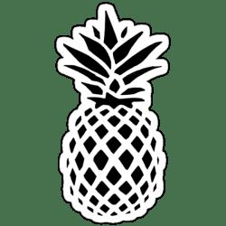 pineapple silhouette stickers redbubble sticker