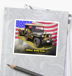 willys world war two army jeep and american flag by kwjphotoart [ 1000 x 1000 Pixel ]