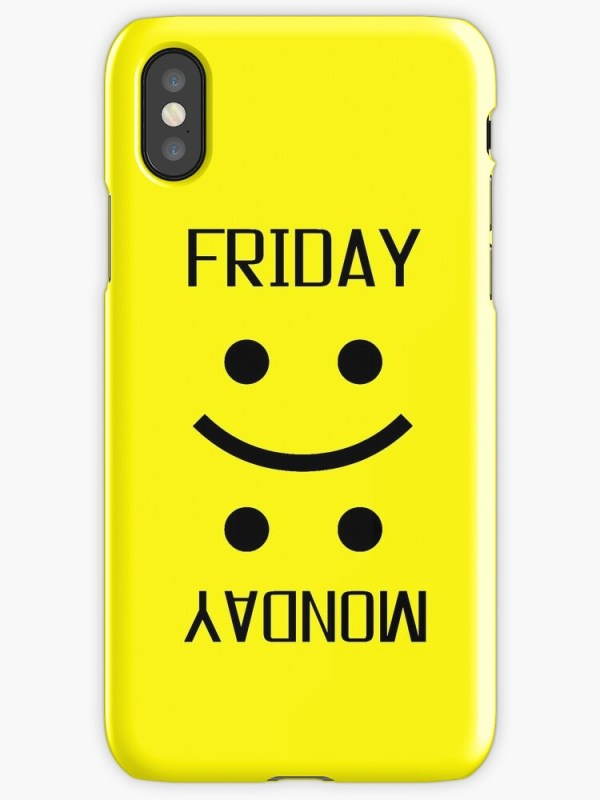 quotFriday Monday Weekend Smiley Face Emoji Funnyquot iPhone