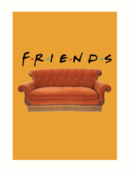 """Friends Couch"""" Art Prints By Exactablerita Redbubble"""