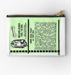 mileage king fuel filter advert zipper pouch by timothybeighton redbubble [ 1000 x 1000 Pixel ]
