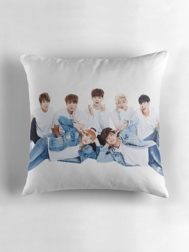 BTS Throw Pillows by yumi108  Redbubble