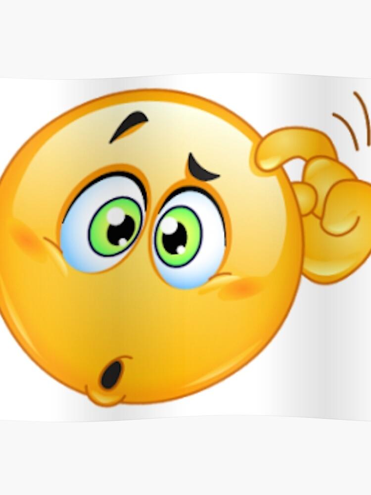 thinking emoji poster