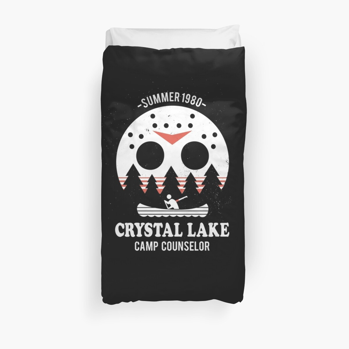 Crystal Lake Camp Counselor Duvet Covers by DinoMike