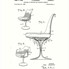 Chair Design Patent Black And White Covers For Weddings E Saarinen Mid Century Modern Tulip Drawing