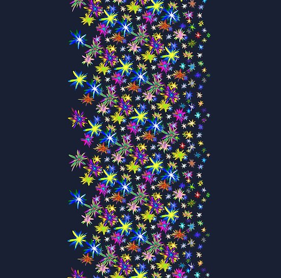Flower blast structured chaos in stratosphere #fractal art