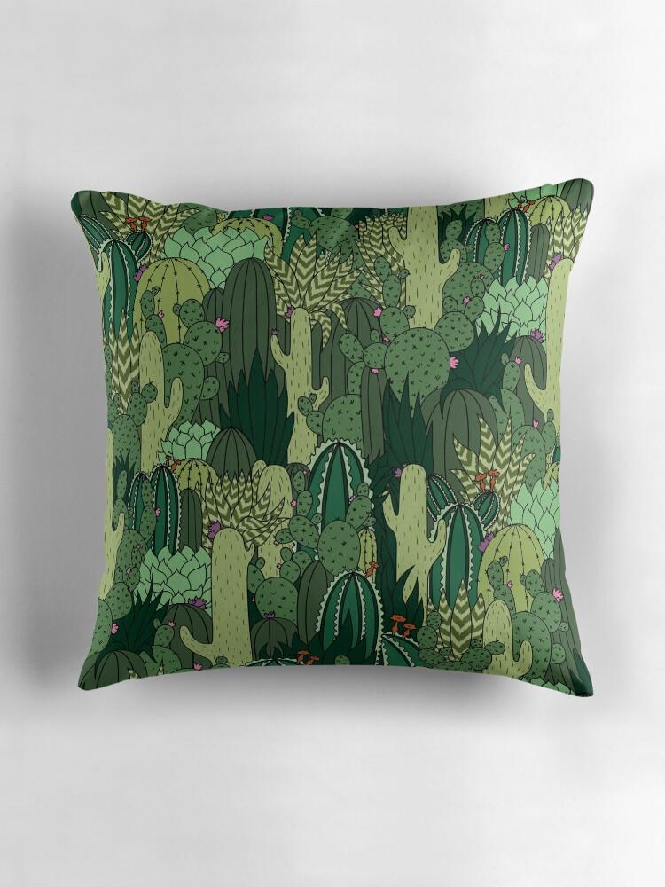 """""""Cactus Pattern"""" Throw Pillows by Shopzoki"""