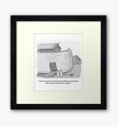 funny noah s ark cartoon framed art print by abbottoons redbubble [ 1000 x 1000 Pixel ]