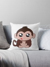 """Chunky Monkey"" Throw Pillows by chunkymonkey 