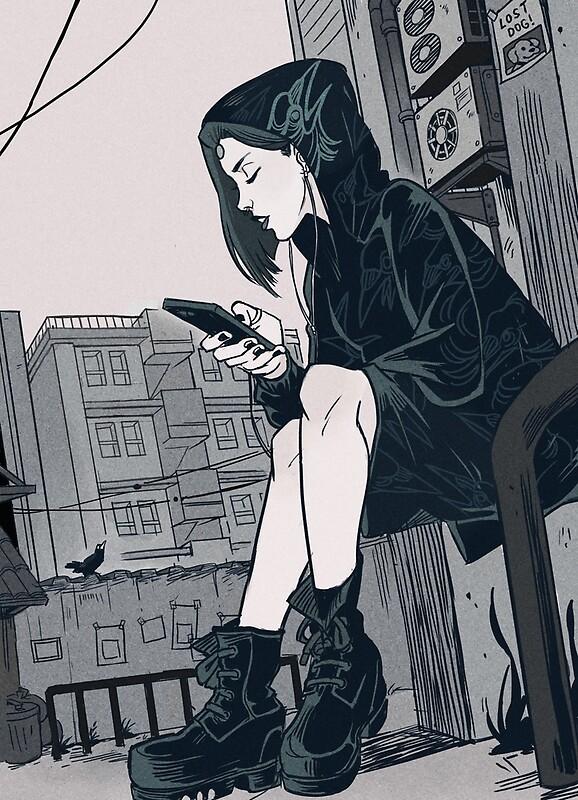 Emo Girl Drawing Tumblr