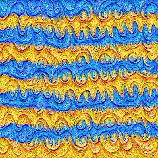 Horizontal Frozen frequencies #DeepDream #Art
