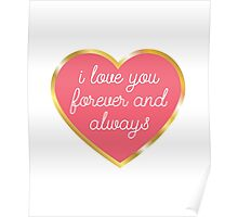 I Love You Forever And Always By Bucksworthy Redbubble