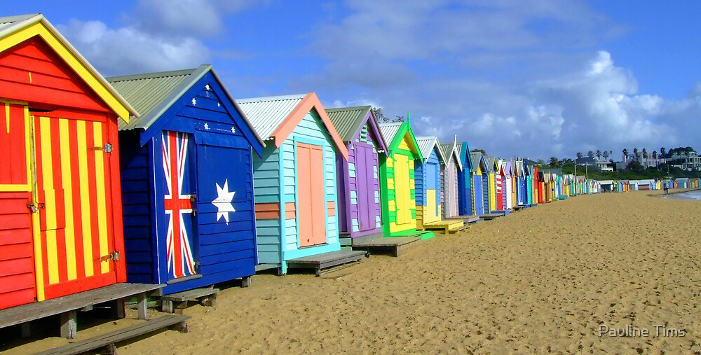 Beach Huts Brighton Melbourne By Pauline Tims Redbubble