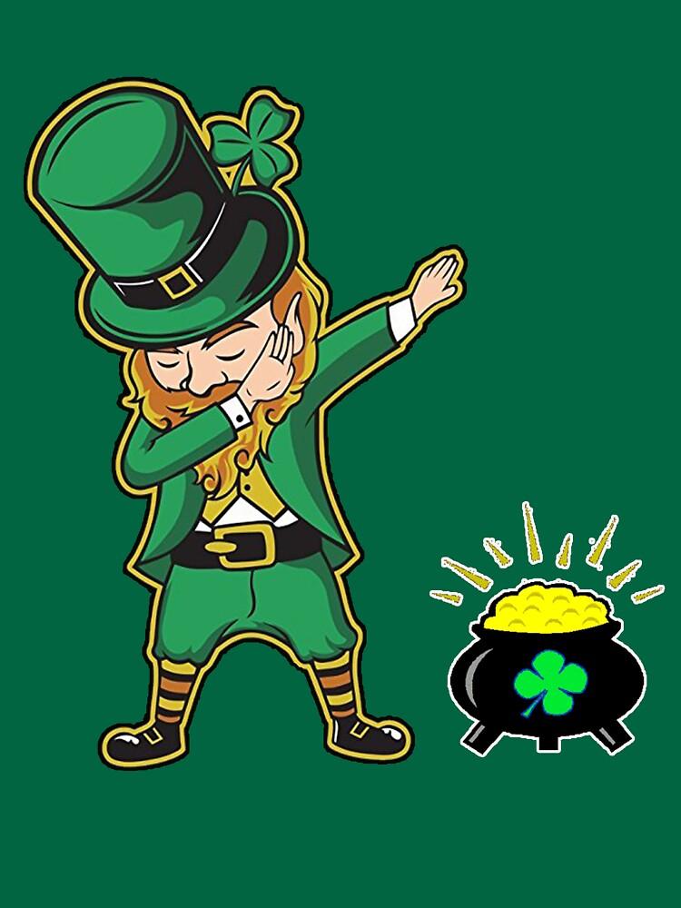 Dabechaun Funny Leprechaun Dabst Patrick Tee By Anna